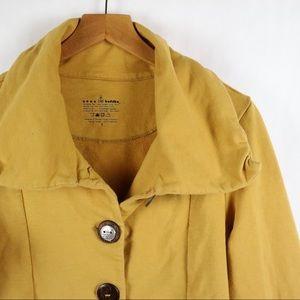 Neon Buddha mustard yellow jacket